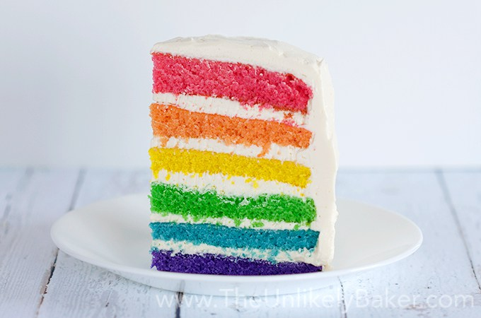The Unlikely Baker Rainbow Cake